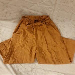 Cotton On Orange Front Tie Wide Leg Pants